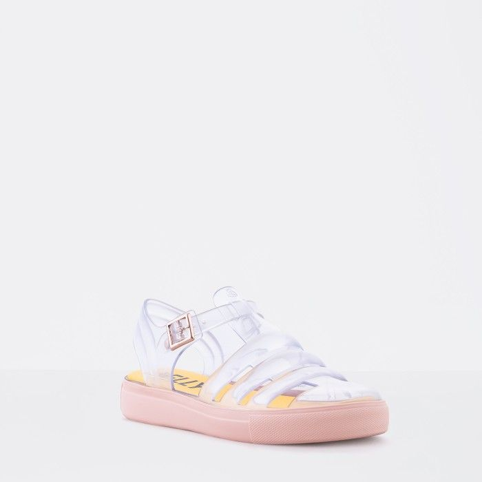 Lemon Jelly | Clear/Pink Water Jelly Sandals | Woman CRYSTAL 16