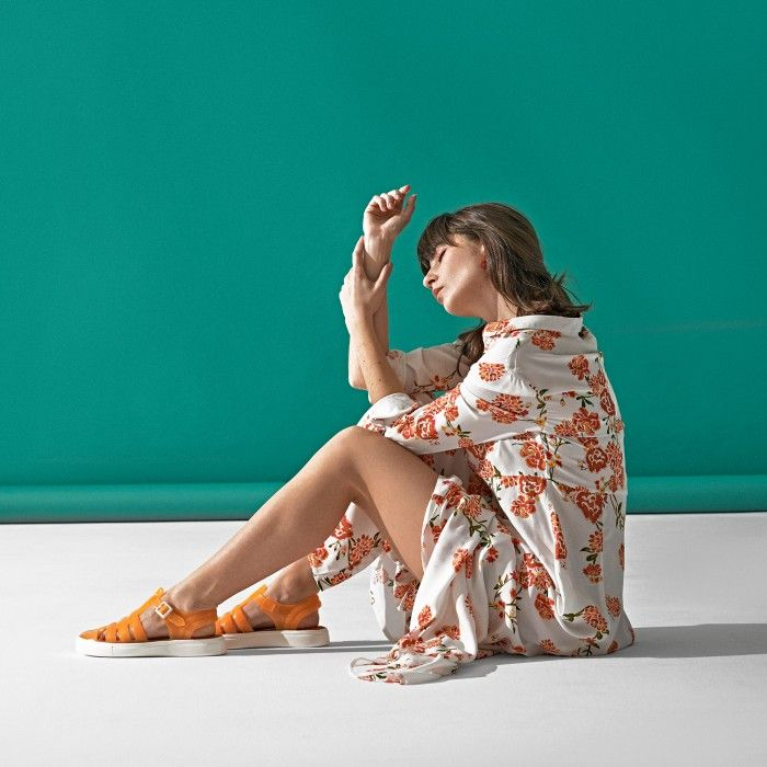 Lemon Jelly | Clear Orange Fisherman Jelly Sandals CRYSTAL 12