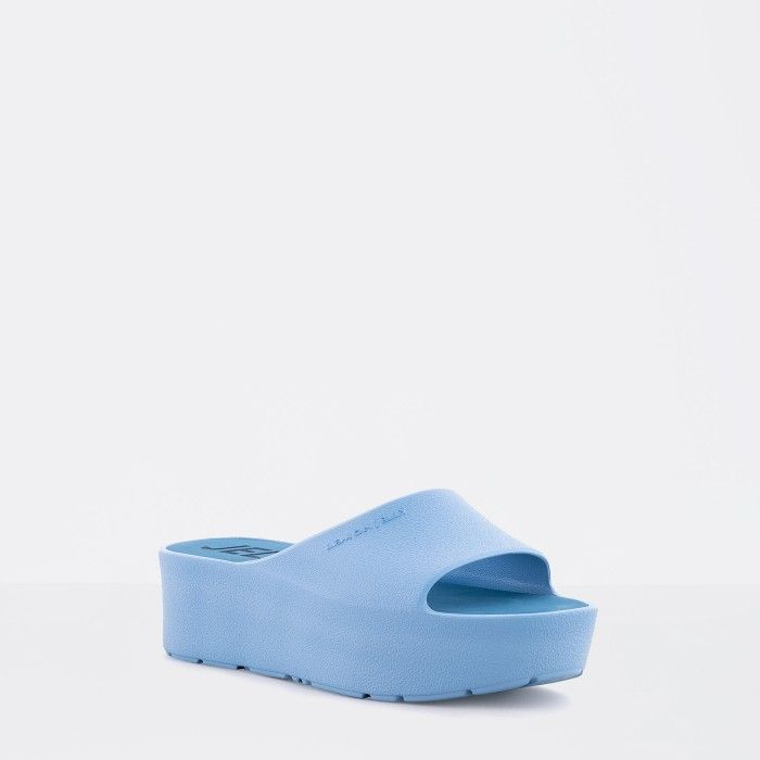Lemon Jelly | Blue Platform Slides for Woman SUNNY 03