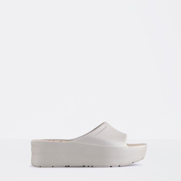 Lemon Jelly | Grey Platform Slides for Woman SUNNY 05