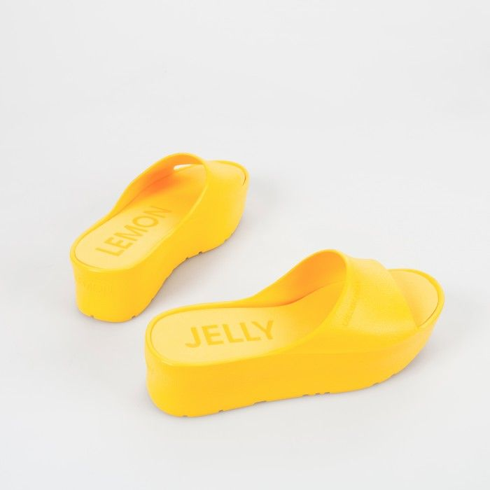 Lemon Jelly | Yellow Platform Slides for Woman SUNNY 04