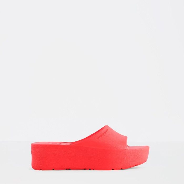 Lemon Jelly | Red Platform Slides for Woman SUNNY 02