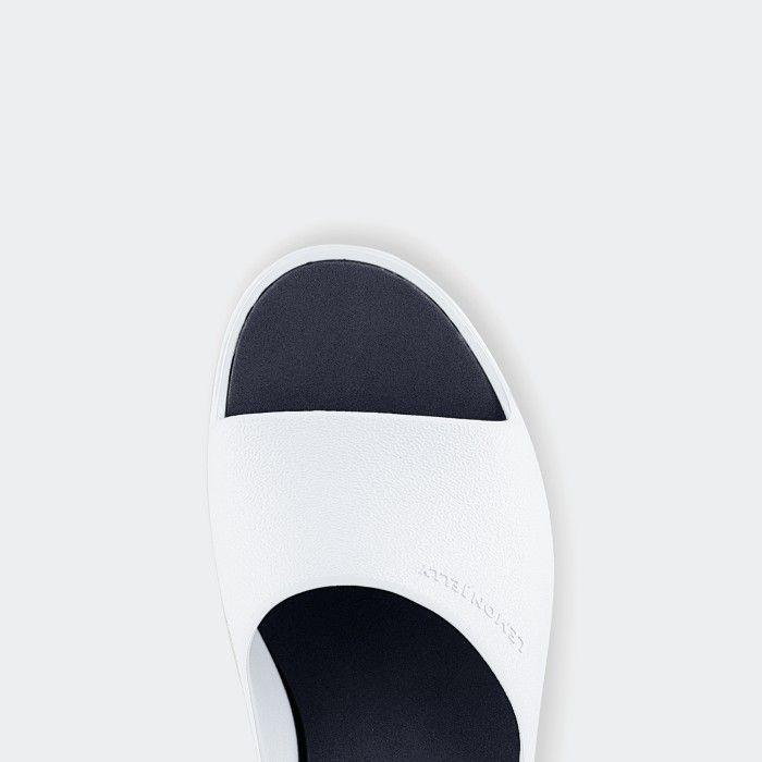 Lemon Jelly | White Platform Slides for Woman SUNNY 06
