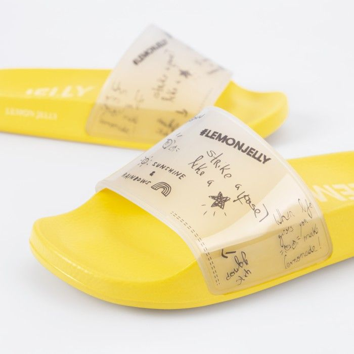 Lemon Jelly | Yellow Woman Slides with Doodles LESLIE 02