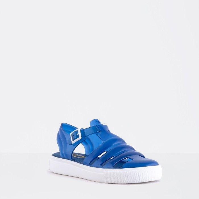 Lemon Jelly | Dark Blue/White Water Jelly Sandals CRYSTAL 17