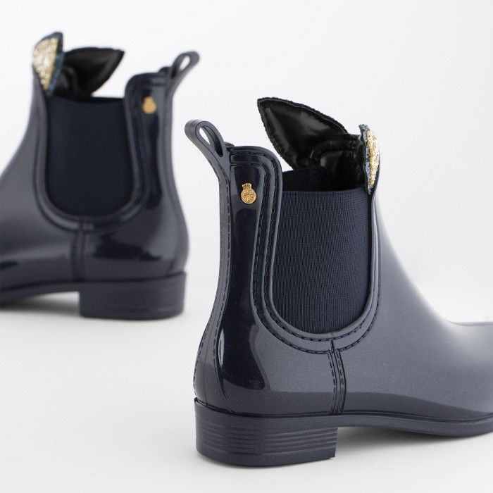 Lemon Jelly | Blue Rain Boots with Bunny Ears | Girl FAUN 13