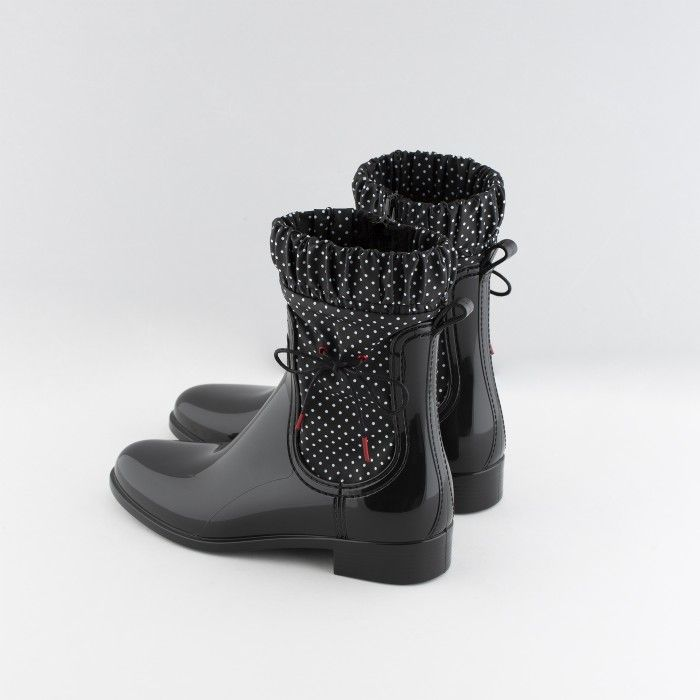 Lemon Jelly | Black Mid-Caf Boots | Women Vegan Boots NESSA 01