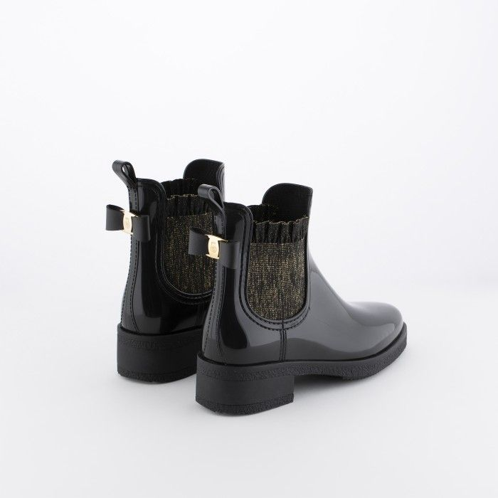 Lemon Jelly | Black  Ankle Boots with Frills/Glitter ALIYA 01