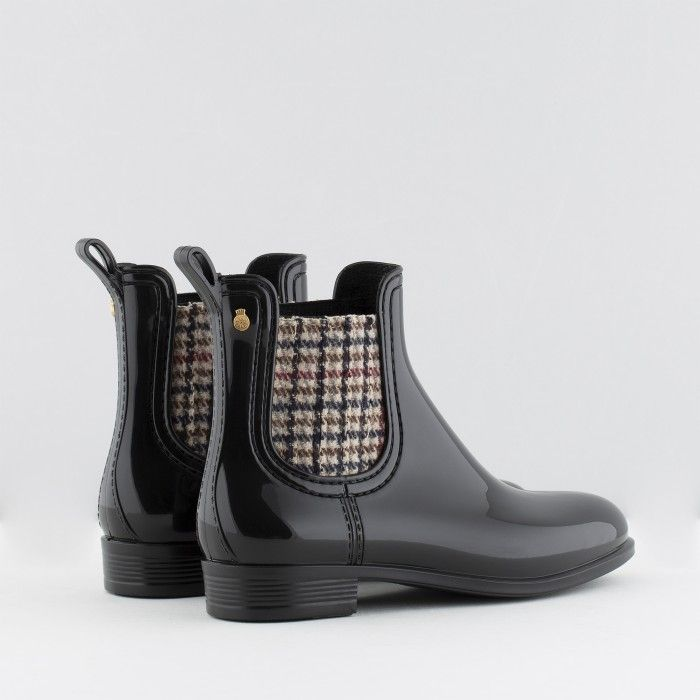 Lemon Jelly | Black Rain Boots w/  Pattern | Girl NES 01