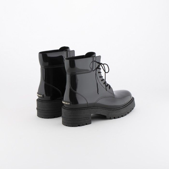 Lemon Jelly | Black Military Boots | Vegan | Women CAILYN 01