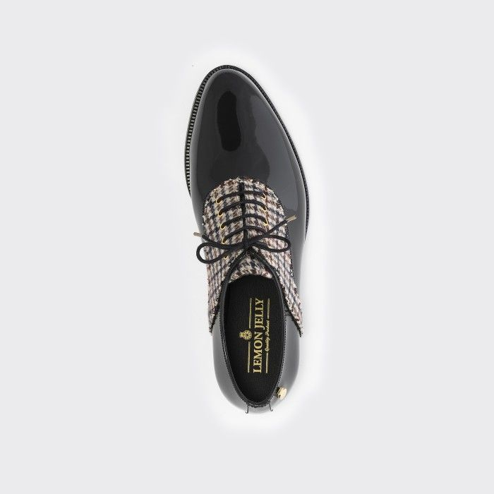Lemon Jelly | Black Oxford Shoes with Pattern | Women JAMIE 01