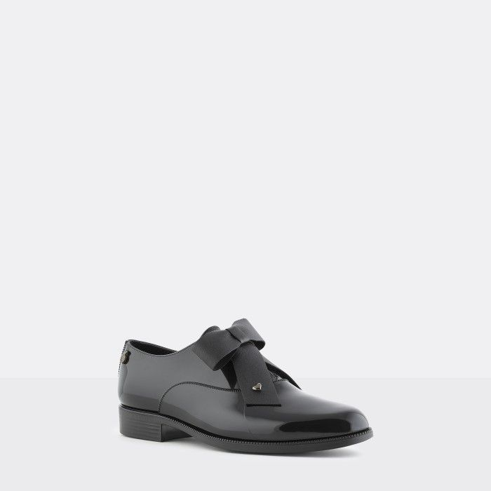 Lemon Jelly |  Black Oxford Shoes with Bow | Women ABBEY 01