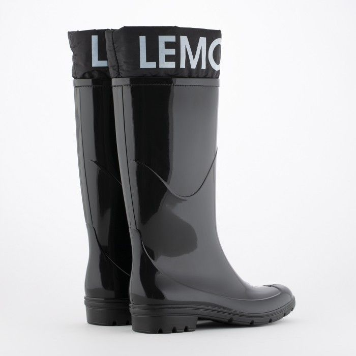 Lemon Jelly | Black Wellies with Logo | Vegan Shoes CLARE 01
