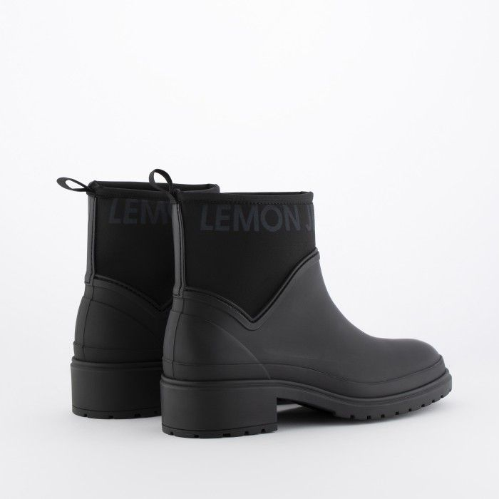 Lemon Jelly Black Low Boots with Padded Collar Women AVERY 01