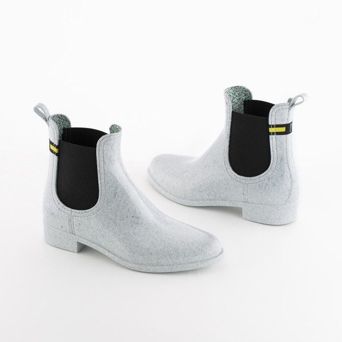 Lemon Jelly | White Recycled Boots Chelsea Style Women BRISA 03