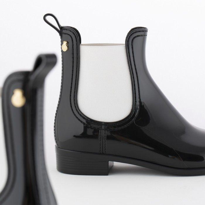 Lemon Jelly | Botas Chelsea Pretas/Brancas | Vegan Shoes PISA 33