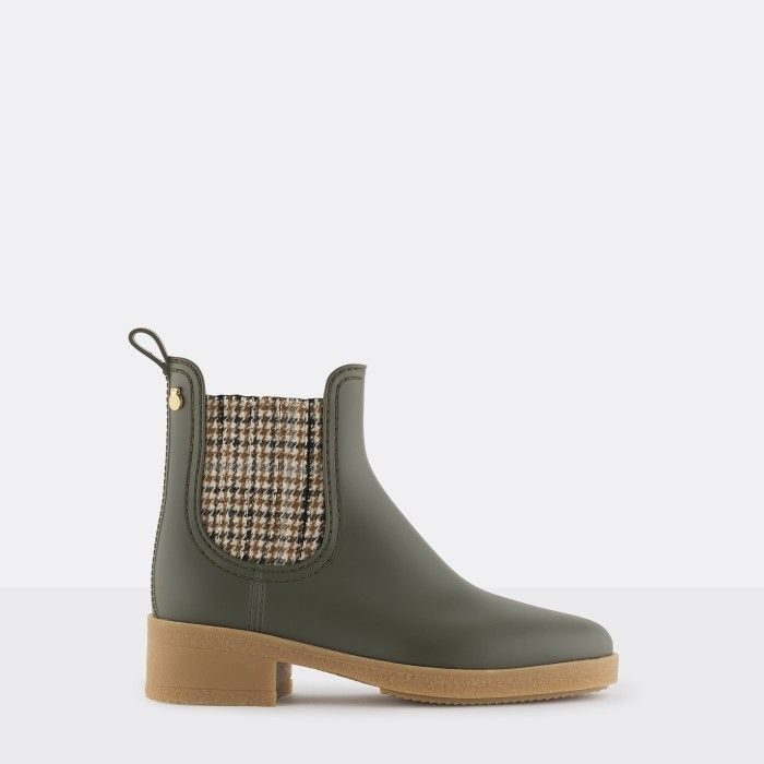 Lemon Jelly | Green Heeled Bootie with  Pattern LOGAN 03