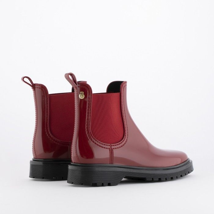 Lemon Jelly Red Platform Boots | Women | Vegan Shoes BLOCK 10