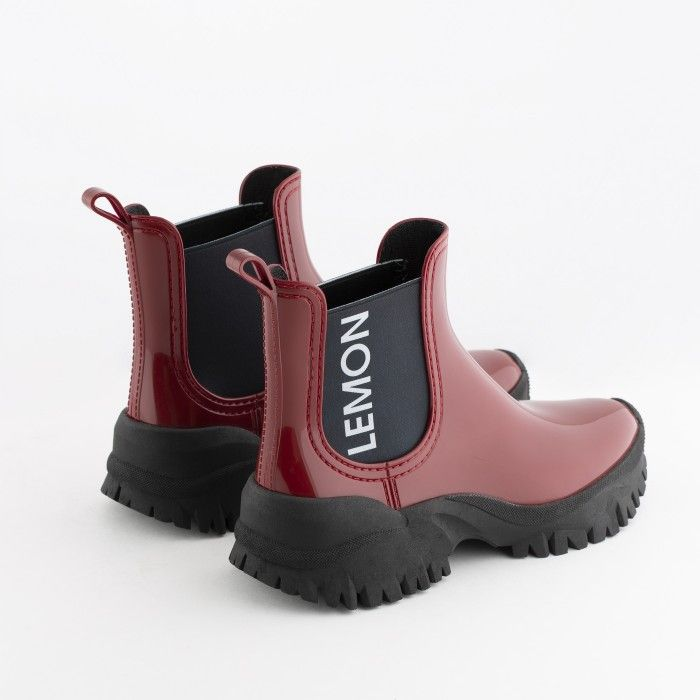 Lemon Jelly | Red Sporty Low Boots | Women | Vegan JAYDEN 04