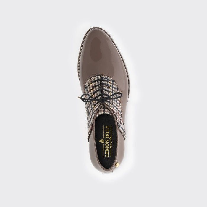 Lemon Jelly Brown  Oxford Shoes with Pattern | Women JAMIE 02