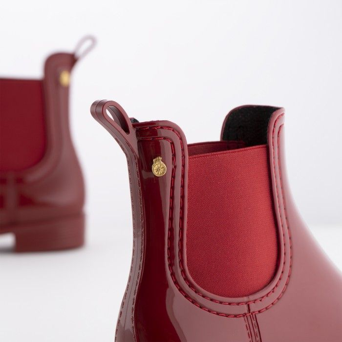 Lemon Jelly Red Rain Ankle Boots for Girl | Kids BIA 27
