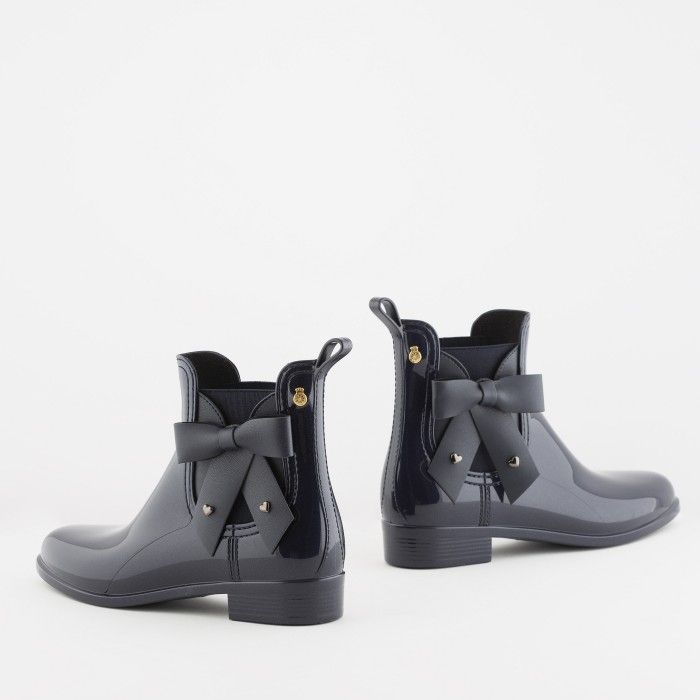 Lemon Jelly | Blue Chelsea Boots with Bow | Women BREANNA 02