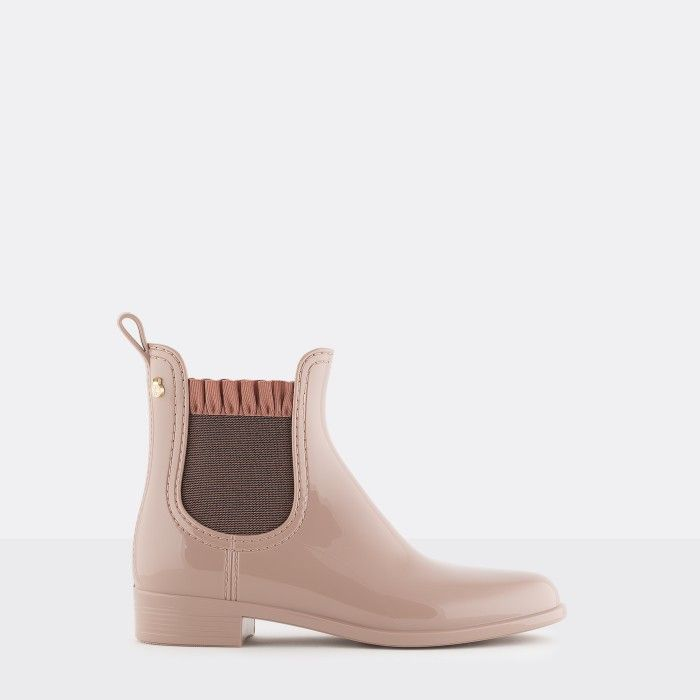 Lemon Jelly Pink Rain Boots with Frills | Women DEVON 04
