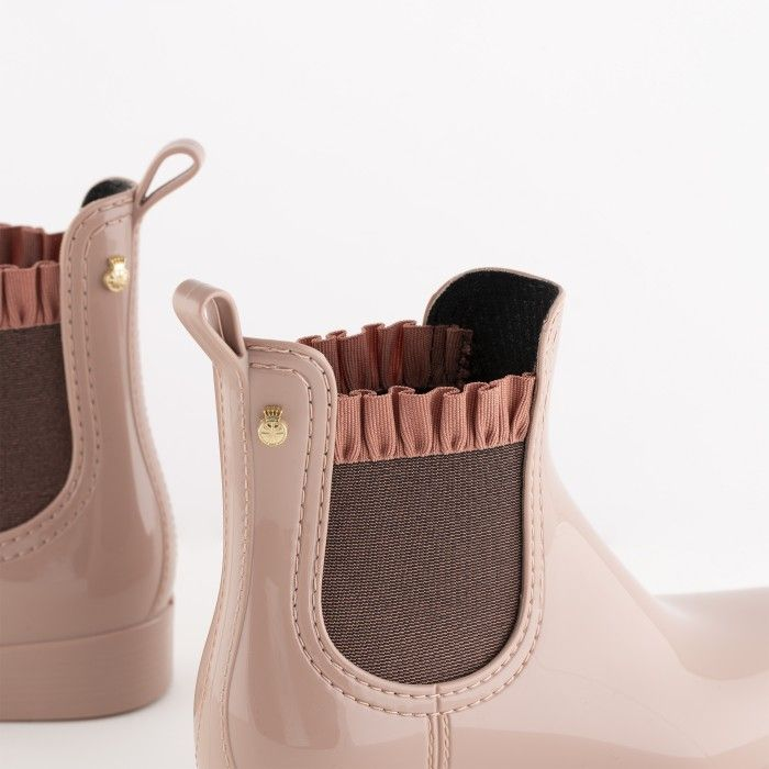 Lemon Jelly | Pink Rain Boots with Frills | Women DEVON 04