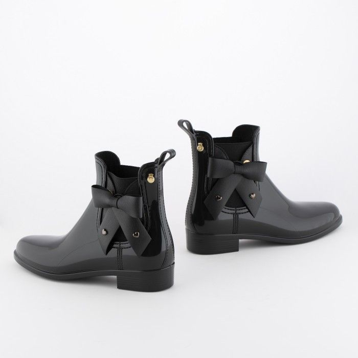 Lemon Jelly | Black Chelsea Boots with Bow | Women BREANNA 01