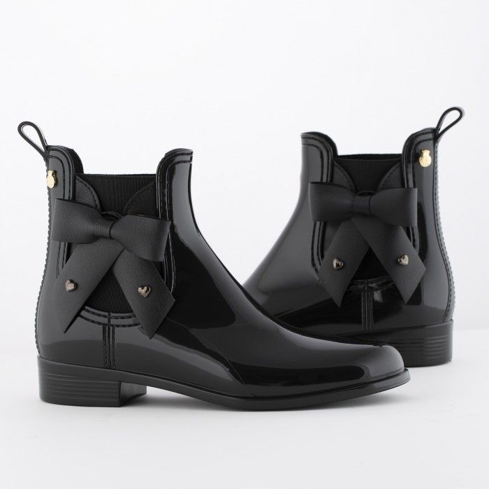 Lemon Jelly Black Chelsea Boots with Bow | Women BREANNA 01