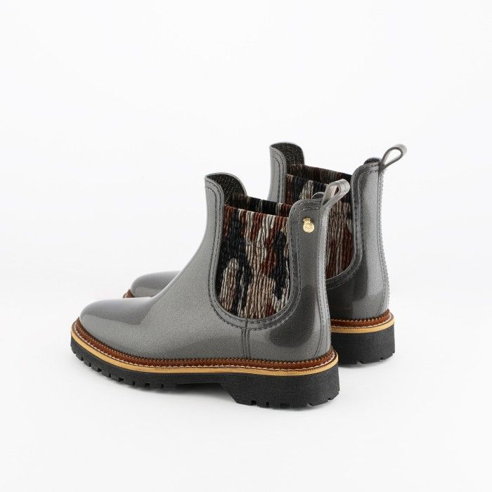 Lemon Jelly | Grey Platform Boots with Pattern | Women ADISON 02