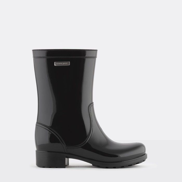 Lemon Jelly | Black Biker Boots with Logo | Women BENNY 01