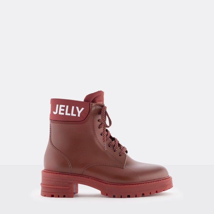 Lemon Jelly | Botas Militares Vermelhas Mate | Mulher RITTA 02