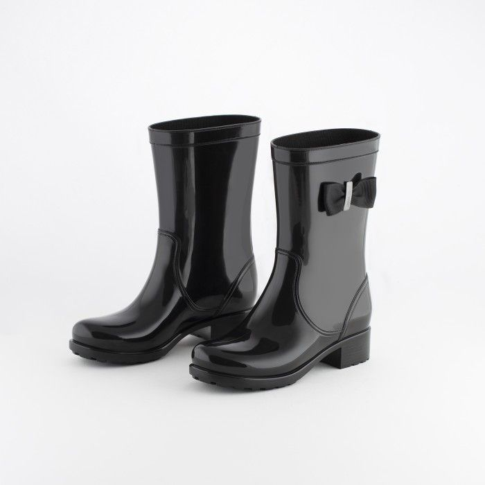 Lemon Jelly | Black Biker Boots with Bow | Women JONES 01