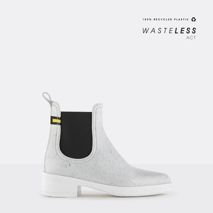 Lemon Jelly | White Recycled Ankle Boots with Heel LINDSEY 03