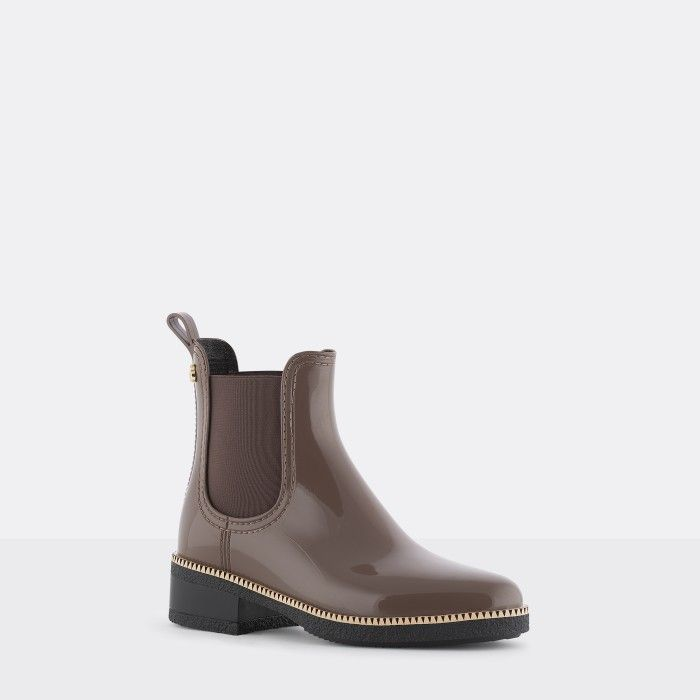 Lemon Jelly | Brown Ankle Boots with Heel | Vegan Shoes AVA 10