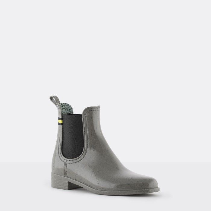 Lemon Jelly | Gray Recycled Boots Chelsea Style Women BRISA 02