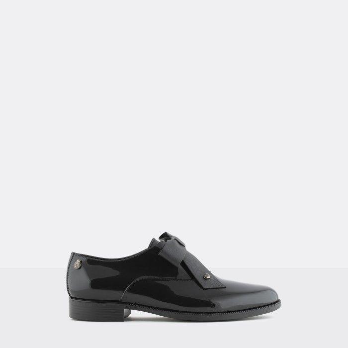 Lemon Jelly Sapatos Oxford Pretos com Laço | Vegan ABBEY 01