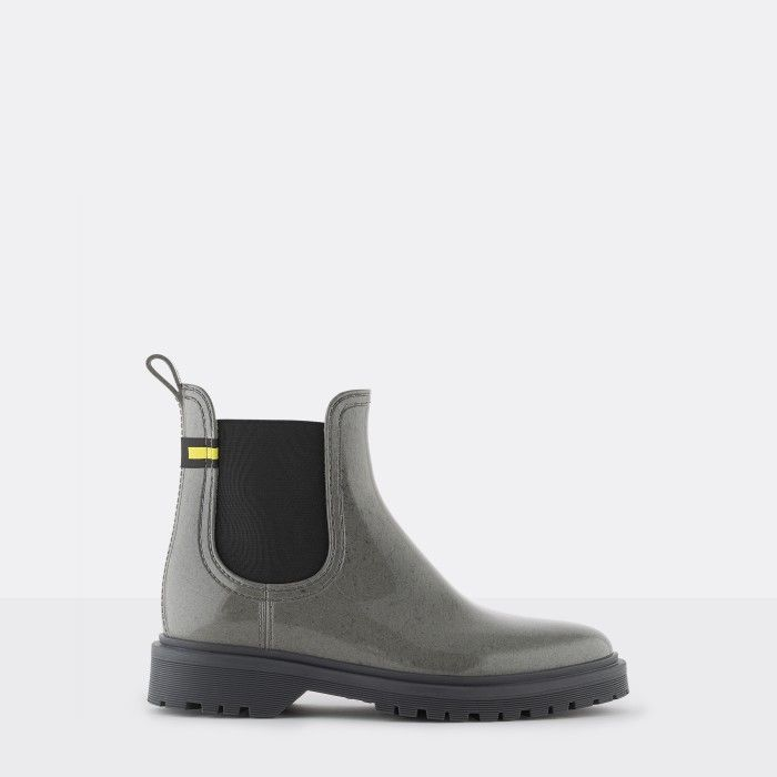 Lemon Jelly | Grey Recycled Boots with Platform MAREN 02