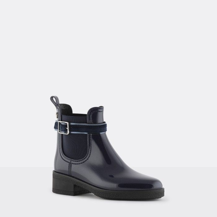 Lemon Jelly | Blue  Ankle Boots with Buckle | Women LUZ 02