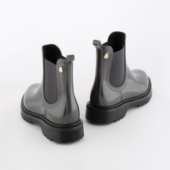 Lemon Jelly | Grey Platform Boots Fur Interior WARM BLOCK 02