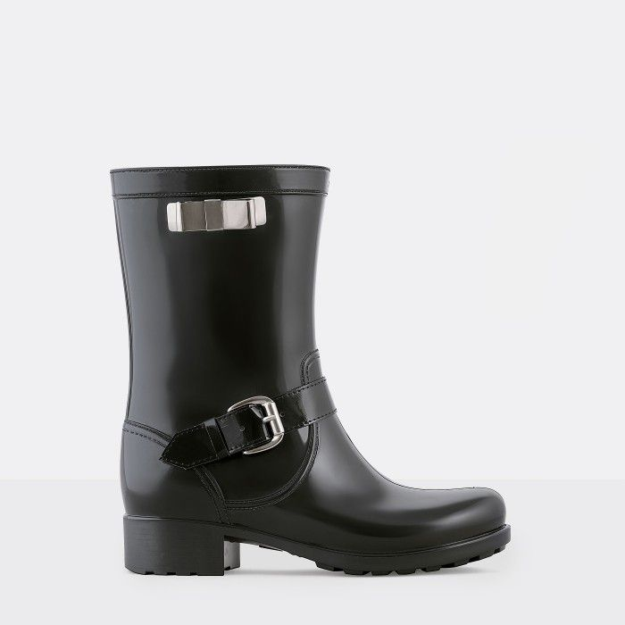 Lemon Jelly Black Biker Boots | Woman | Wellies SEVILHA 01
