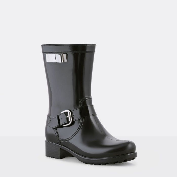 Lemon Jelly | Black Biker Boots | Woman | Wellies SEVILHA 01
