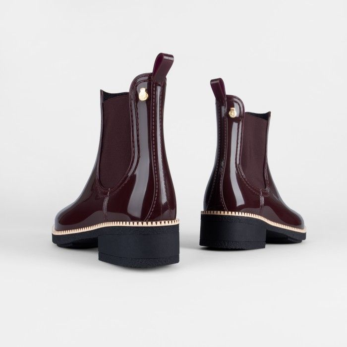 Lemon Jelly | Wine Heel Ankle Boots Fur Interior WARM AVA 02