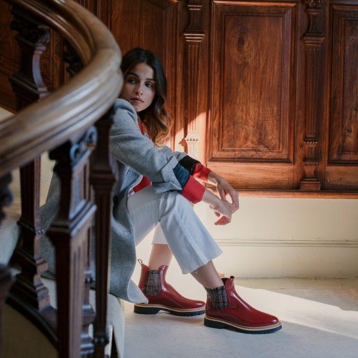 Lemon Jelly | Red Platform Boots with Pattern | Women IZA 03