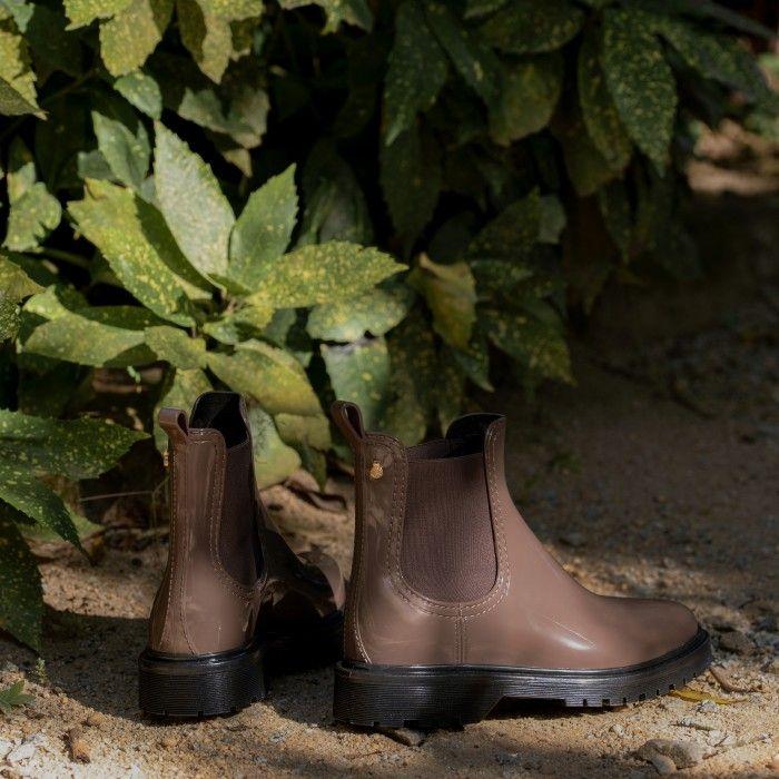 Lemon Jelly | Brown Platform Boots | Women | Vegan BLOCK 13