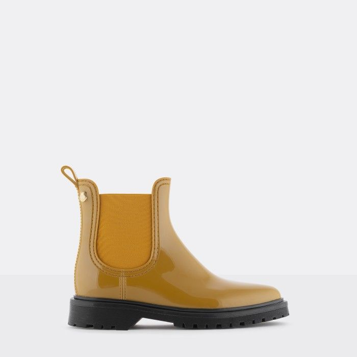 Lemon Jelly Yellow Platform Boots | Women | Vegan BLOCK 12