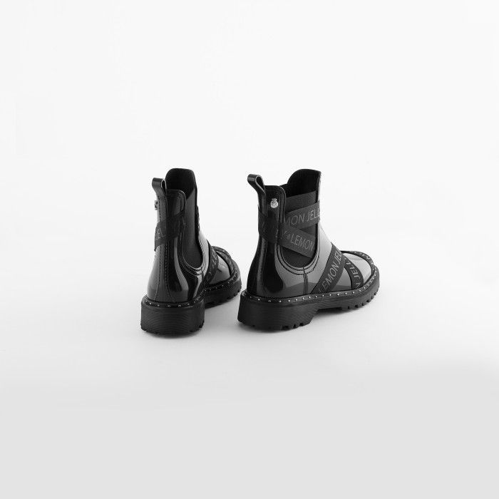 Lemon Jelly | Black Platform Ankle Boots | Women FRANKIE 01