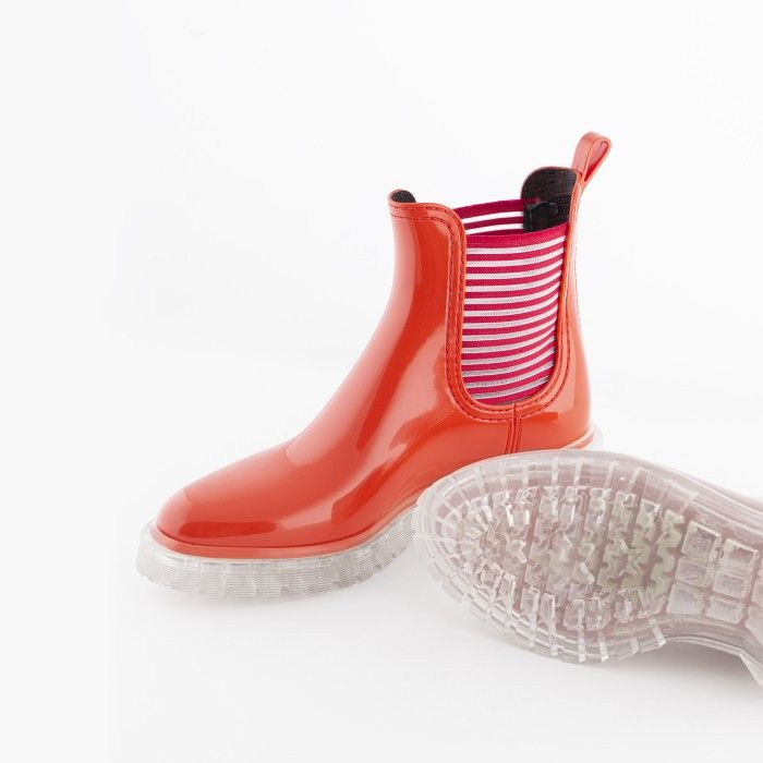 Lemon Jelly   Summer Red Low Boots for Women   Vegan ALEXIS 02