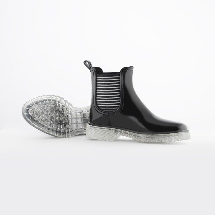 Lemon Jelly | Summer Black Low Boots for Women | Vegan ALEXIS 01